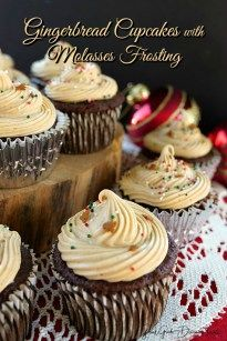 Gingerbread Cupcakes with Molasses Frosting - Great Grub, Delicious Treats