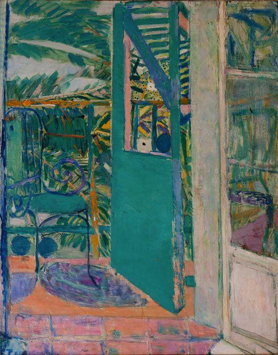 peinture française  Pierre Lesieur, 1950,  - peinture porte et fenetre
