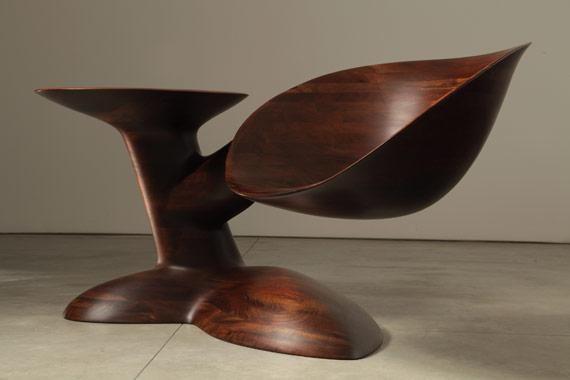Wendell Castle's Distant Thunder, 2011, peruvian walnut with oil finish  Barry Friedman Ltd., New York, NY