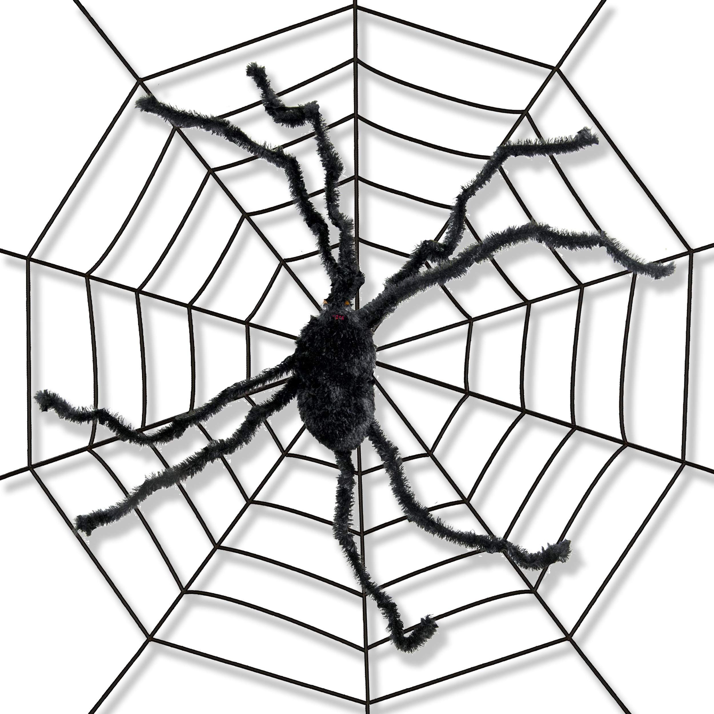 Terrifying Halloween Decorations Giant 5 Foot Spider Web With