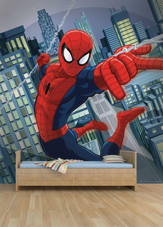 Empapelado Spiderman Mural Papel De Parede Decoracion Para Niños Paneles De Pared 3d Decoracion De Aulas