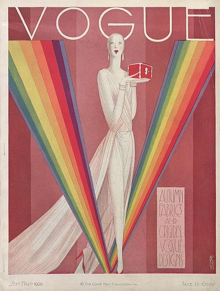 Illustration by Benito. Vogue September 1926. #Cover #Fashion #Magazine