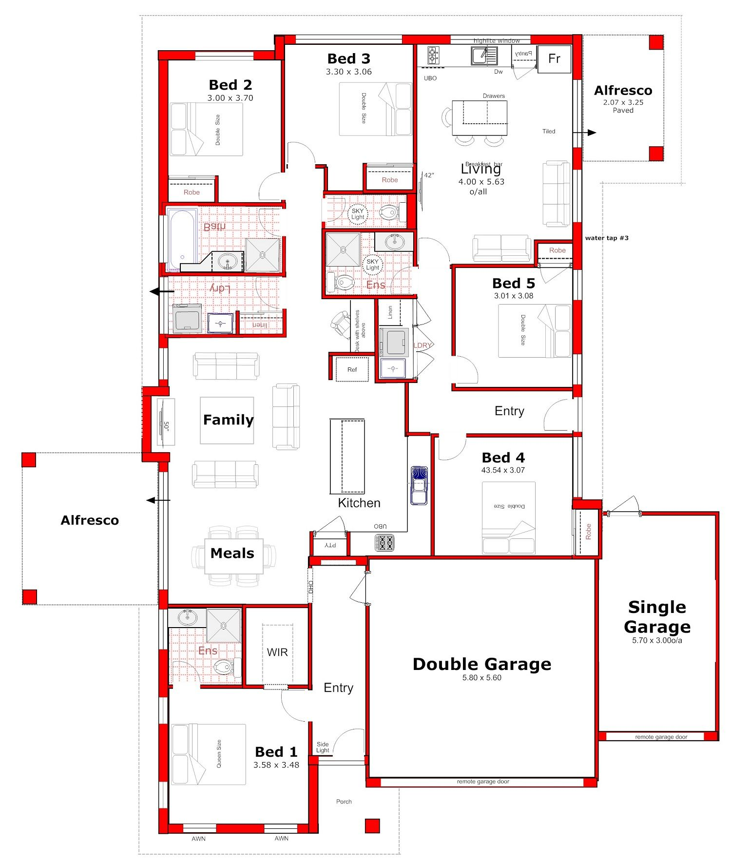 204 Granny Flat House Plan For Dual Living Perth Family House Plans Duplex Floor Plans My House Plans