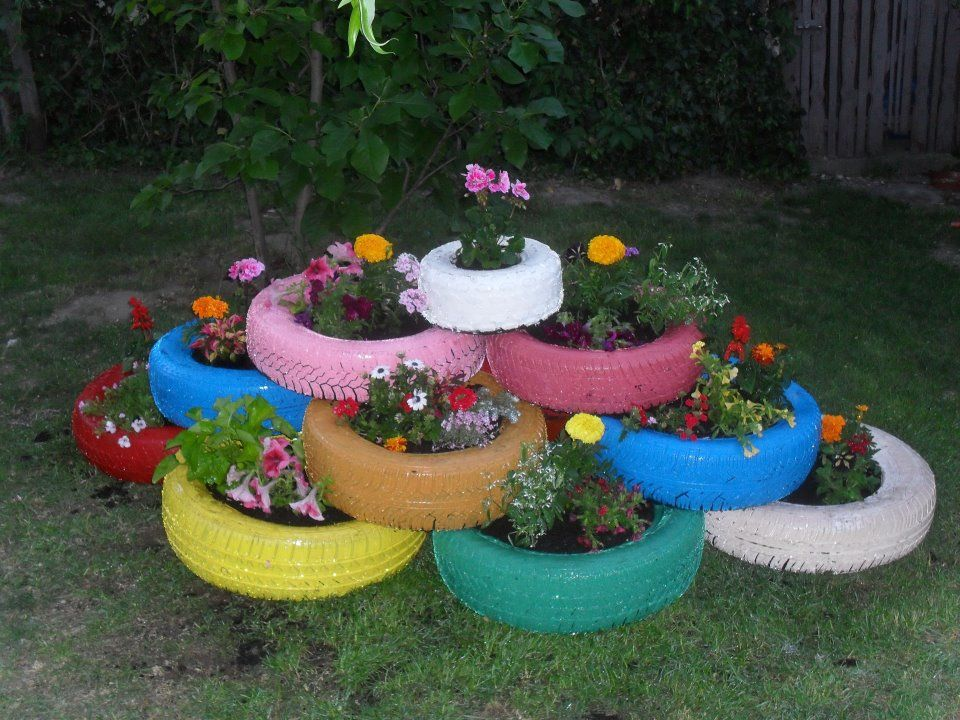 Unusual Garden Planters Painted Tires You Can Usually