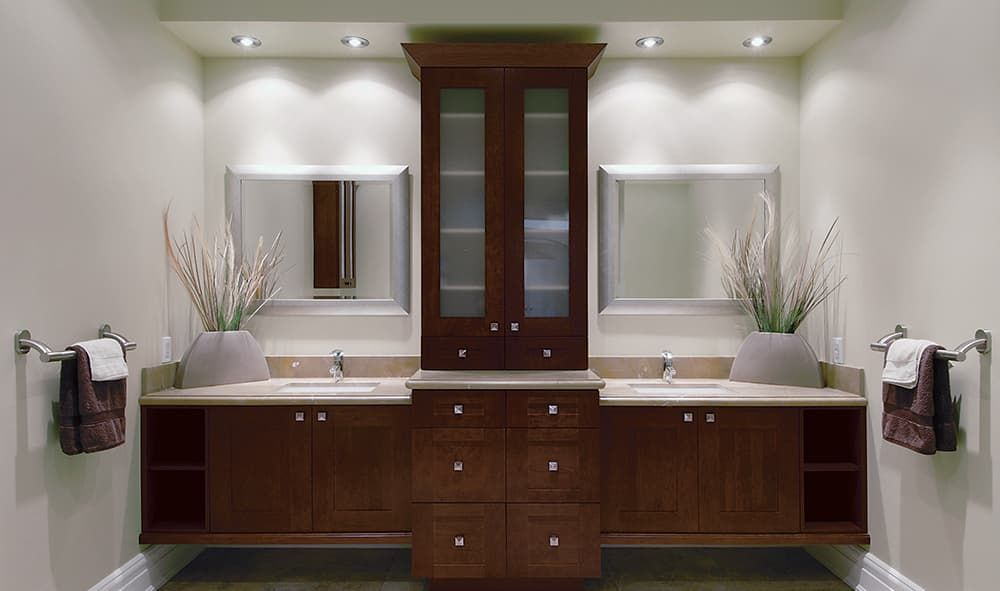 Pre Embled Bathroom Cabinets From Calgary S Cabinet Solutions Ready For Your Renovation
