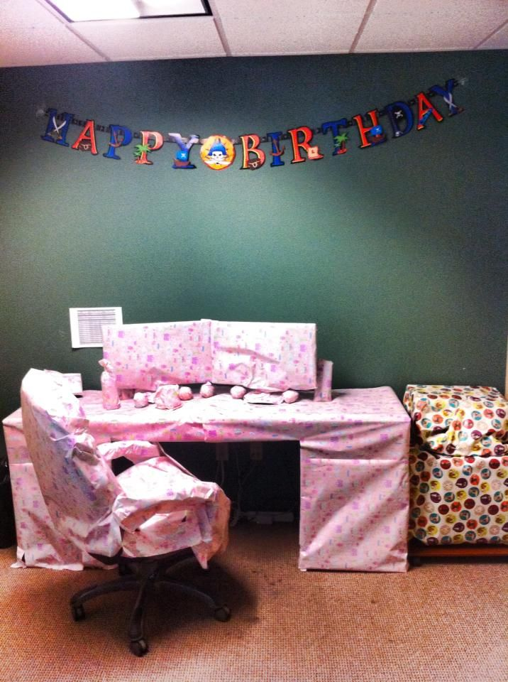 Our Marketing Director had a birthday. Guess what his present was? (hint: it involves work.)