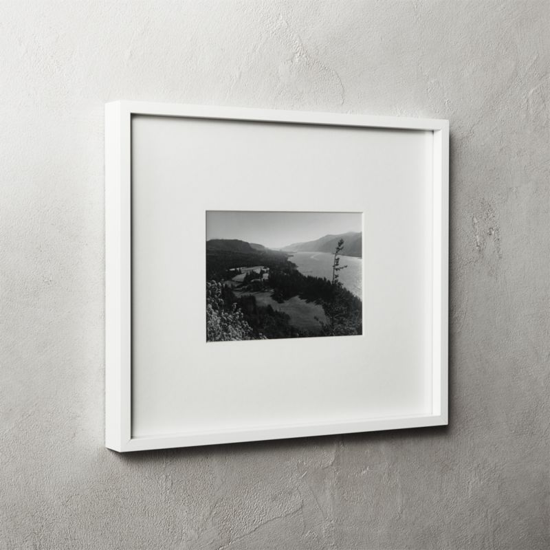 Gallery White Frame With White Mat 5x7 Reviews Cb2 11x14 Picture Frame White Frame Picture Frames