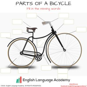 Copy Of Parts Of A Bicycle Worksheet Things To Study English