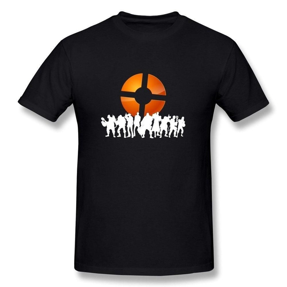 Men S Team Fortress 2 Logo T Shirt Black With Images Black