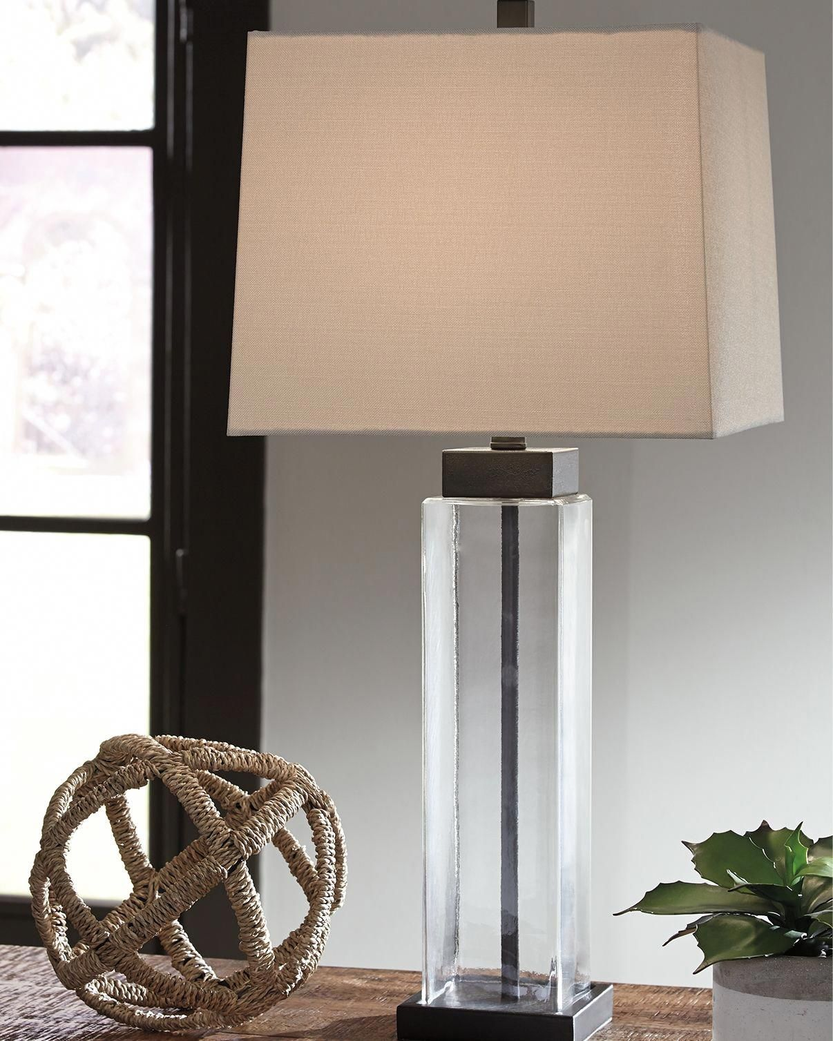 Alvaro Table Lamp (Set of 2), Clear/Bronze Finish