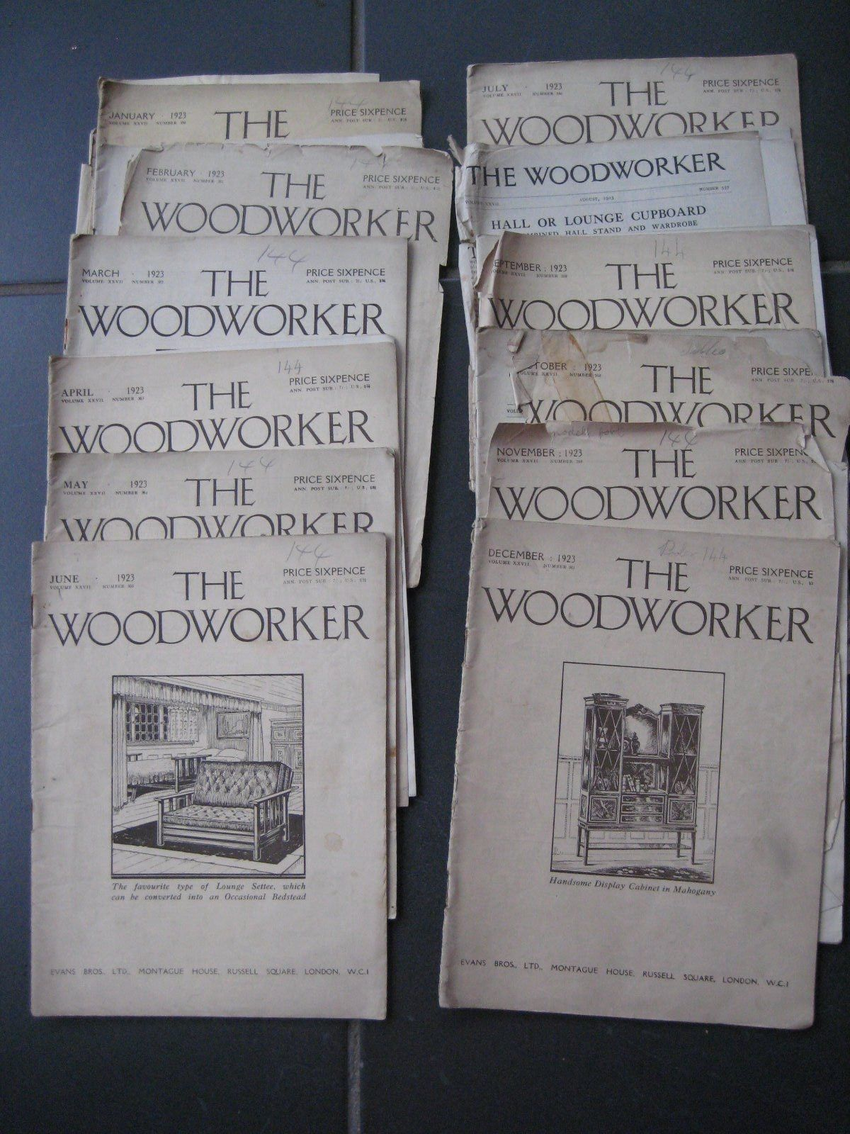 The Woodworker Magazine 1923 All 12 Editions Home Decor Cooking