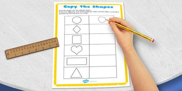 Visual Perception Copy the Shapes Worksheet - copy, shape ...