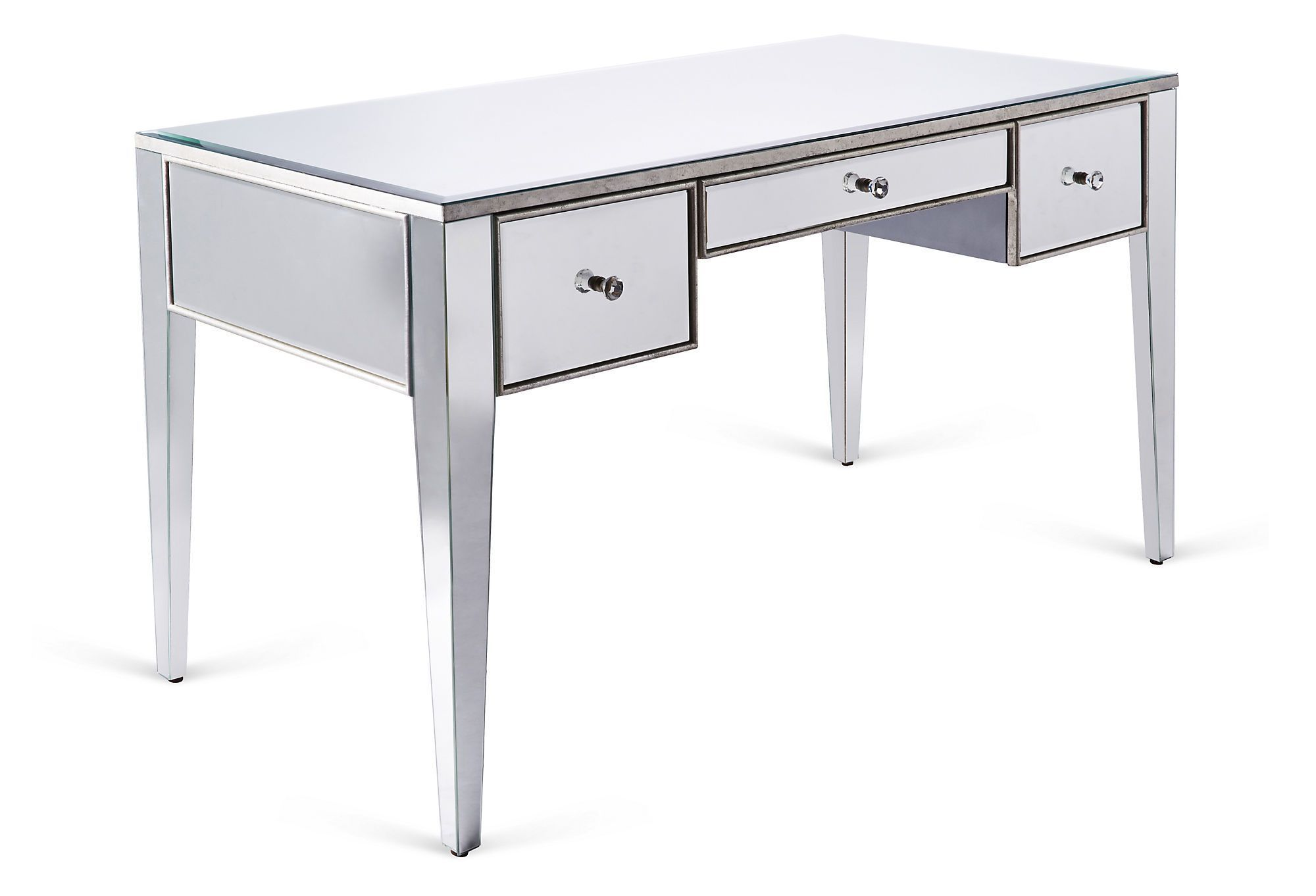 of hand mirrored white beveled desk with full secretary hutch home fashion size furniture finished covered silver functional desks mirrors mirror back antiqued table corner leaf hayworth and office small