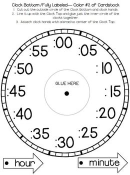 Telling Time Clock Templates And Foldables  ra