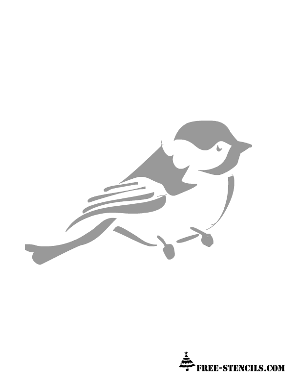 free stencil templates for walls is stencil of another flying bird