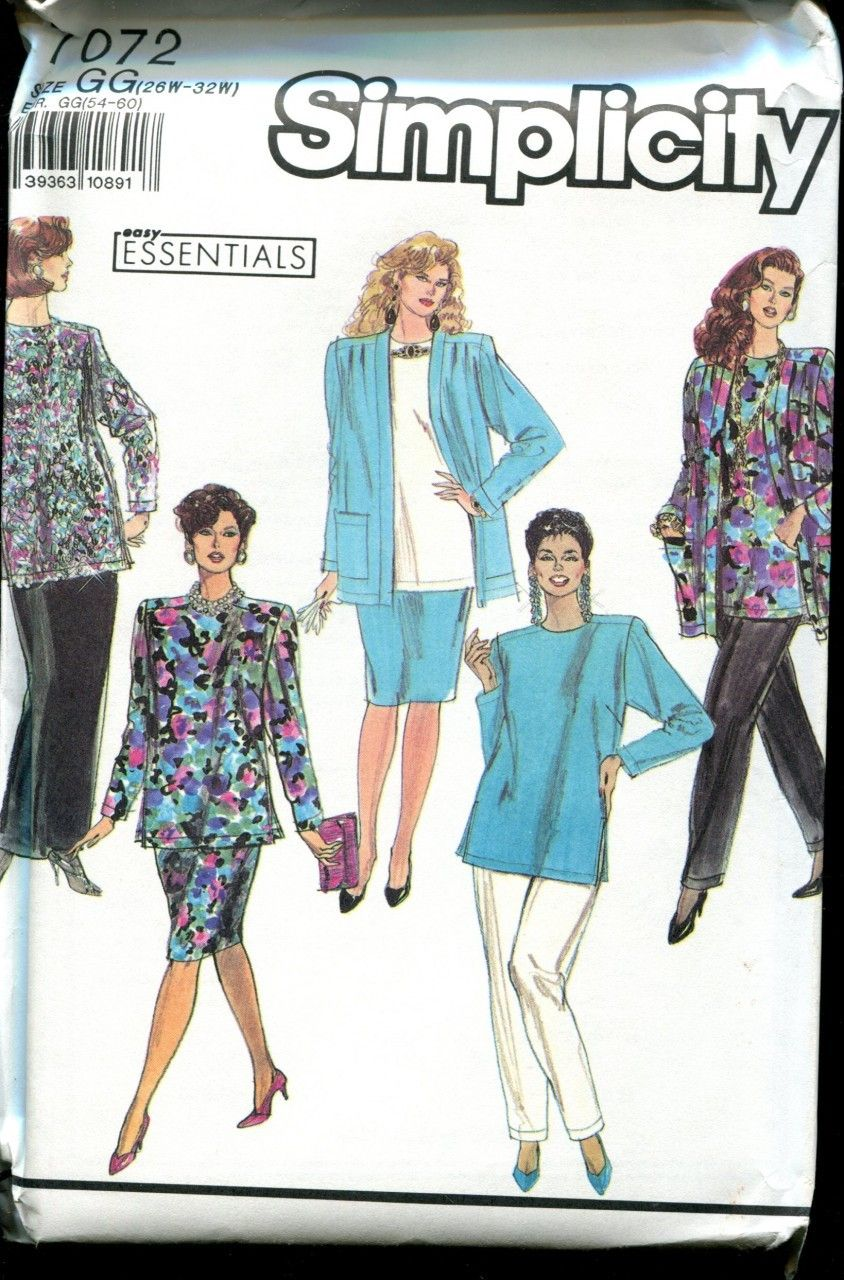 Great Plus Size Pattern ! Simplicity 7072 Separates