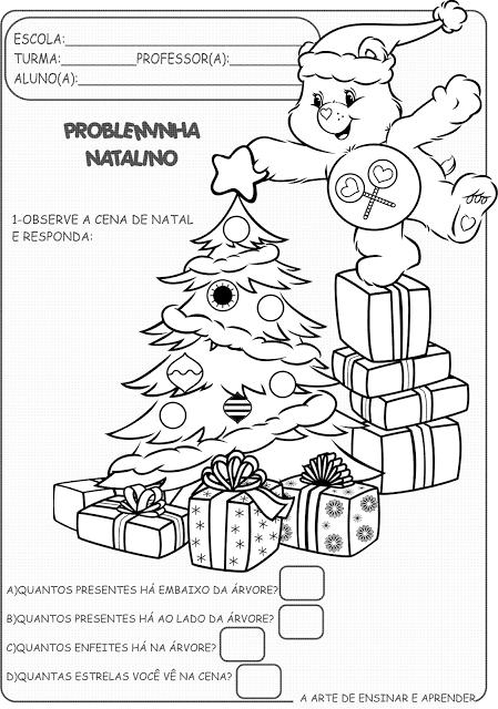 Atividade Pronta Probleminha Matematico De Natal Atividades