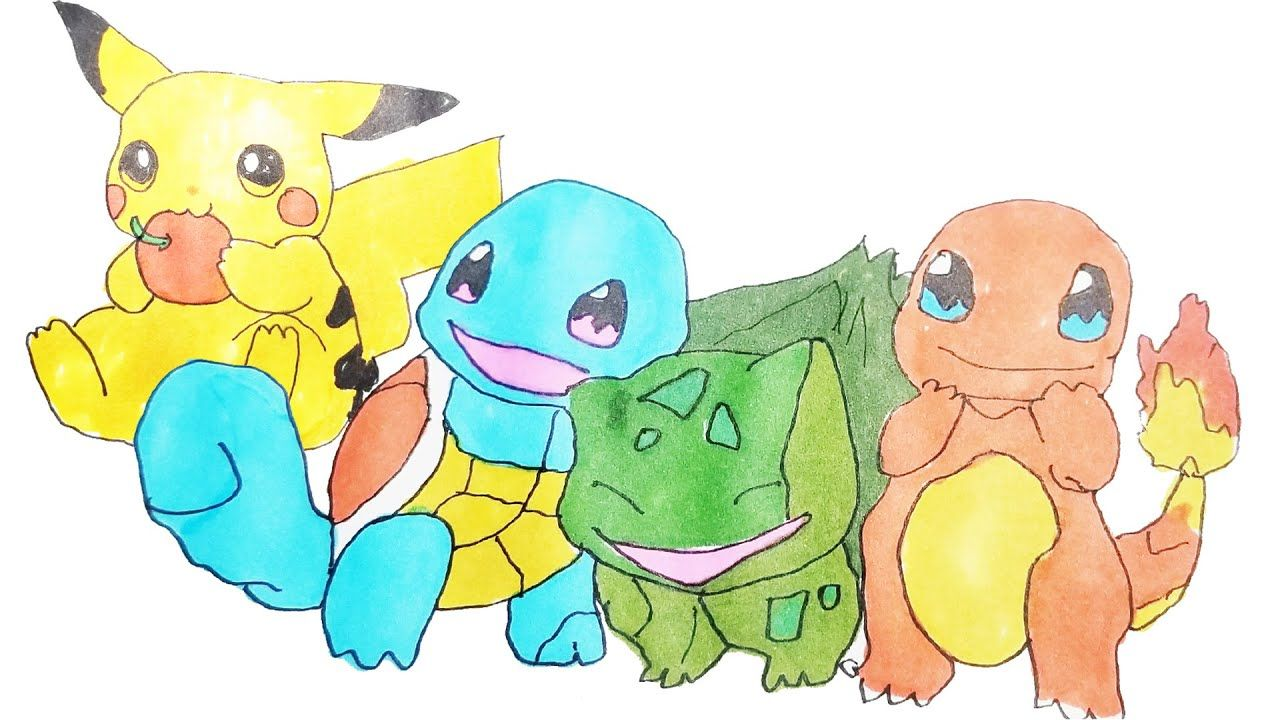 How to draw pokemon characters chibi trong 2020