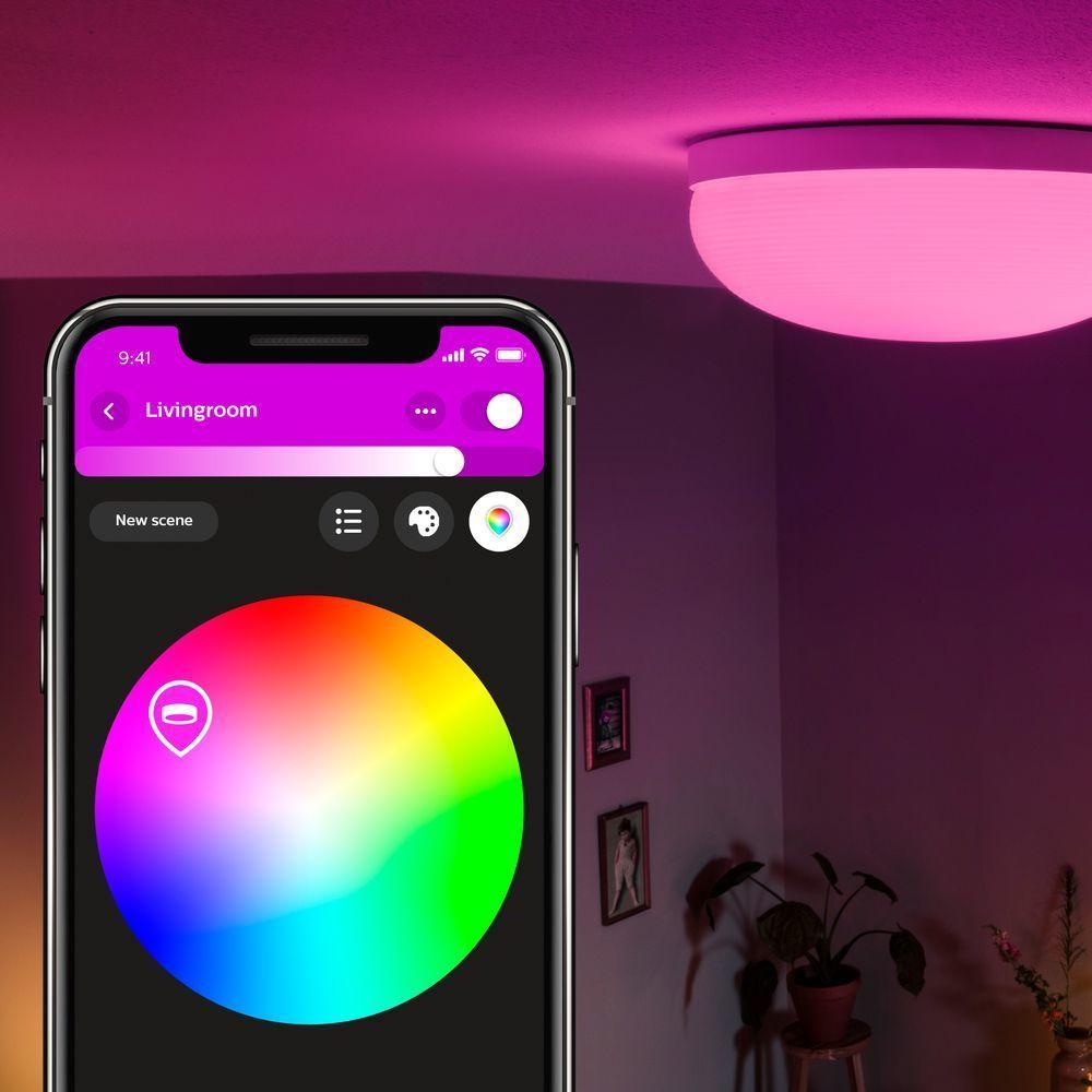 A Philips Hue Bluetooth White Color Ambiance Flourish Deckenleuchte Wei Philips Hue 4090531p9 Hue Dekorative Lichterketten Lampendesign