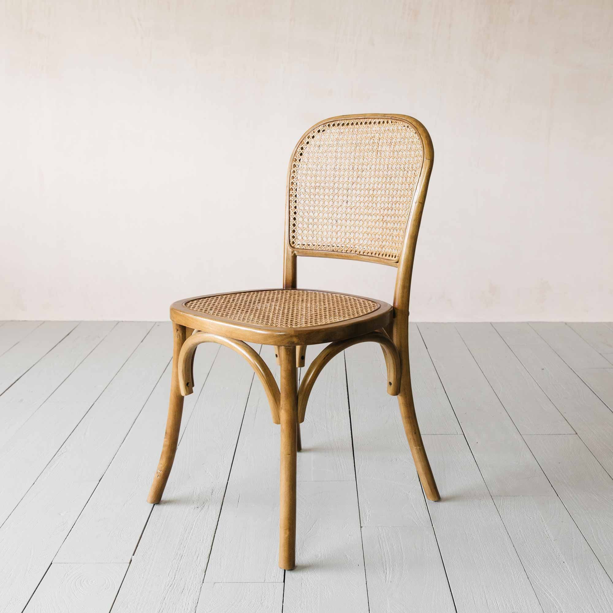 Natural Wicker Bistro Chair In 2020 Bistro Chairs Chair Wicker