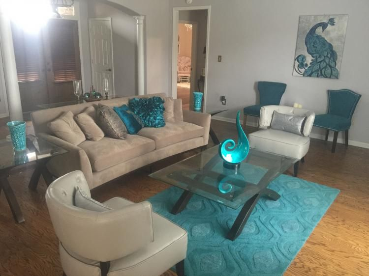 75 Best Ideas To Decorate Your Living Room With Turquoise Accents Teal Living Rooms Living Room Turquoise Brown Living Room Decor