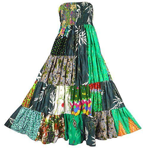 Bonya Women's 2 in 1 Bohemian Dress,Patchwork Swing Maxi Skirt - (Color152) Bonya Collections http://www.amazon.com/dp/B017TA46IK/ref=cm_sw_r_pi_dp_uDKqwb125JK79