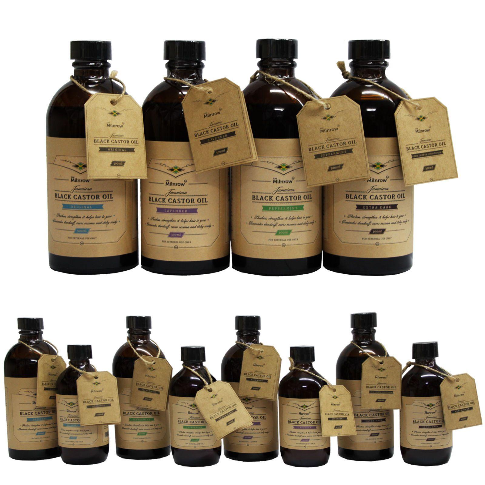 Jamaican black castor oil original extra dark lavender peppermint