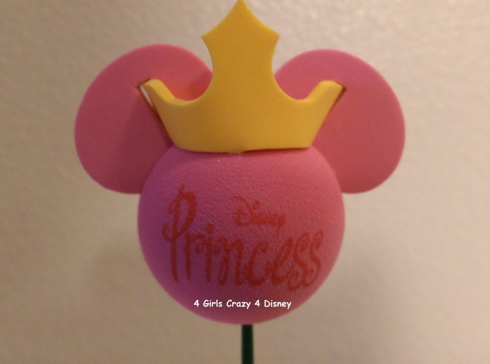 Disney Princess Antenna Topper pink with gold crown