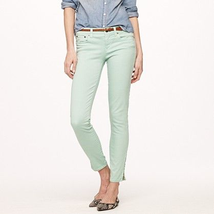 Loving these J.Crew ankle-zip toothpick jeans
