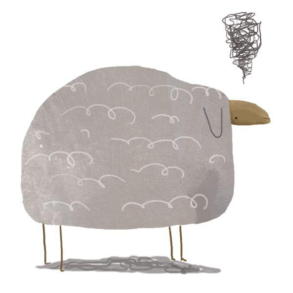 Embroidery Pattern Grumpy Sheep
