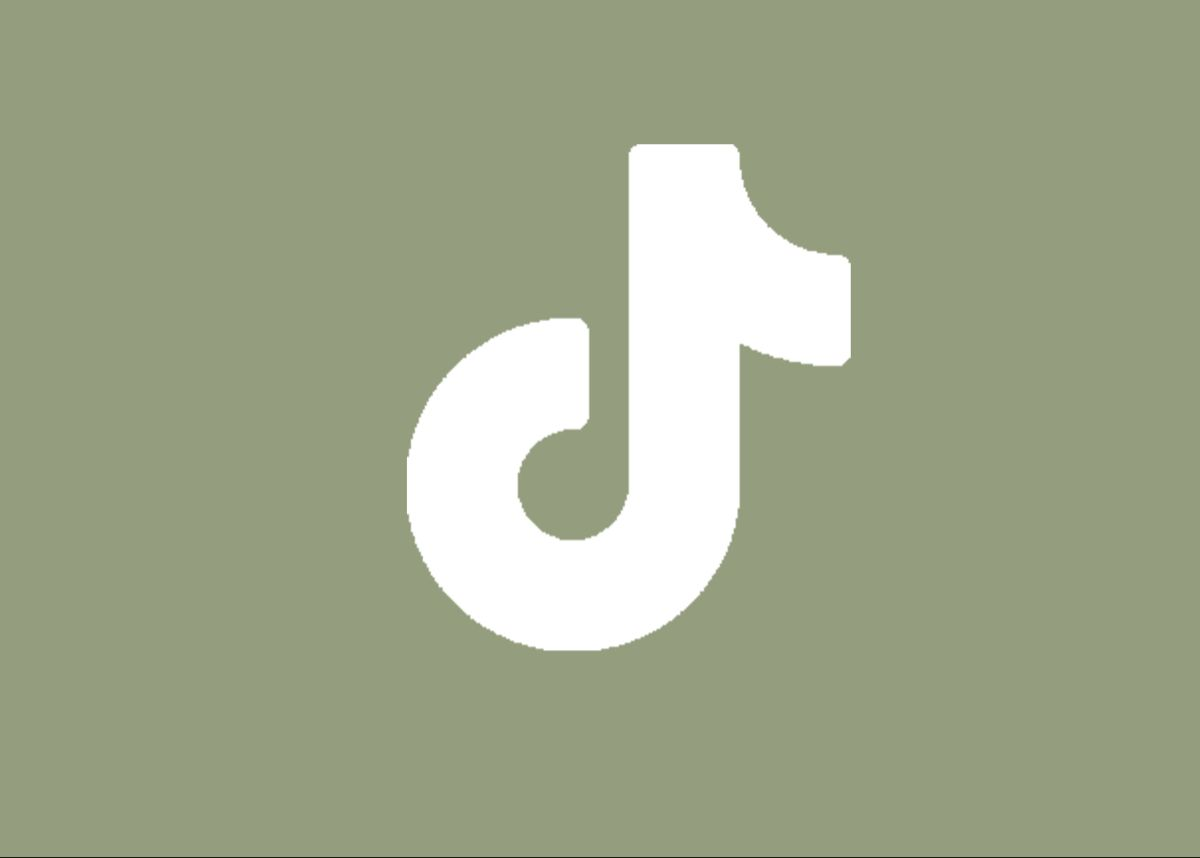 Dark Green Tiktok Logo Aesthetic, Aesthetic Tiktok Logo ...
