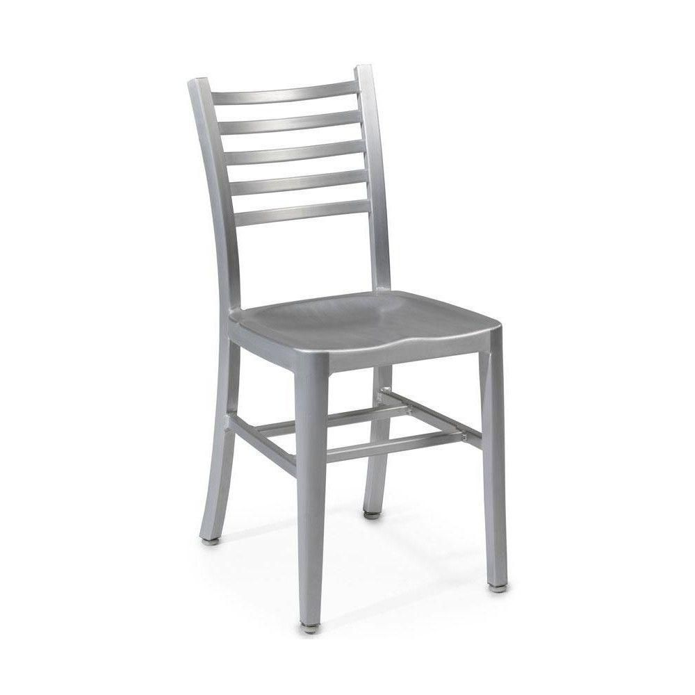 Home Decorators Collection Catarina Brushed Aluminum Side Chair