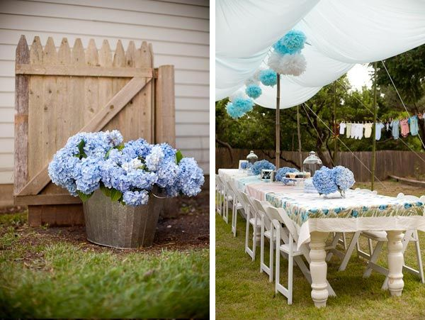 Blue hydranga baby shower p a r t y pinterest