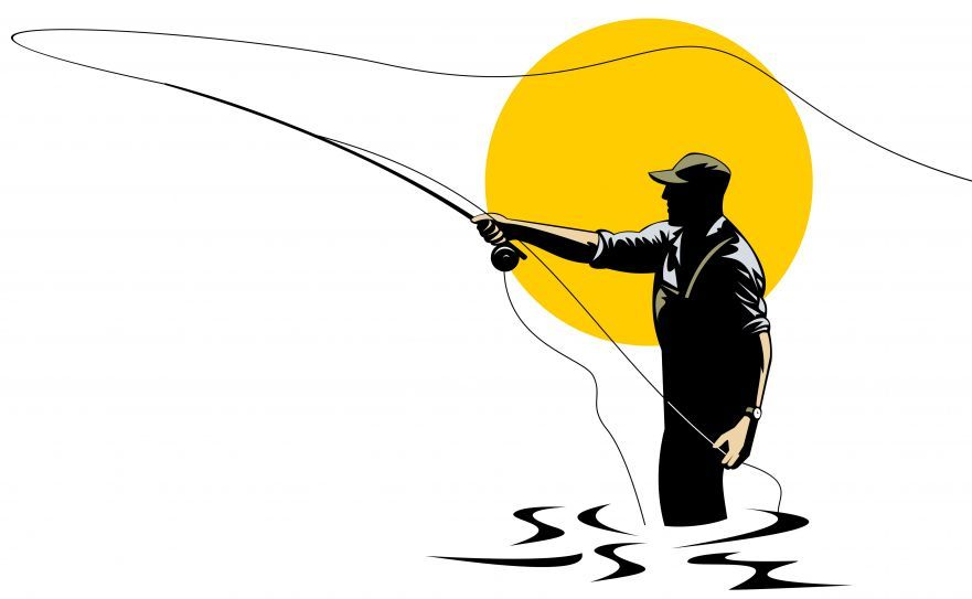 fly fishing rod clip art learn how to catch any kind of fish with rh pinterest com fly fishing clipart black and white fly fishing clip art free images