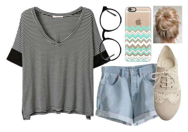 """xox / stripes & chevron"" by haileymadisonnn ❤ liked on Polyvore featuring MTWTFSS Weekday, LE3NO, Pixie, Casetify and Spitfire"