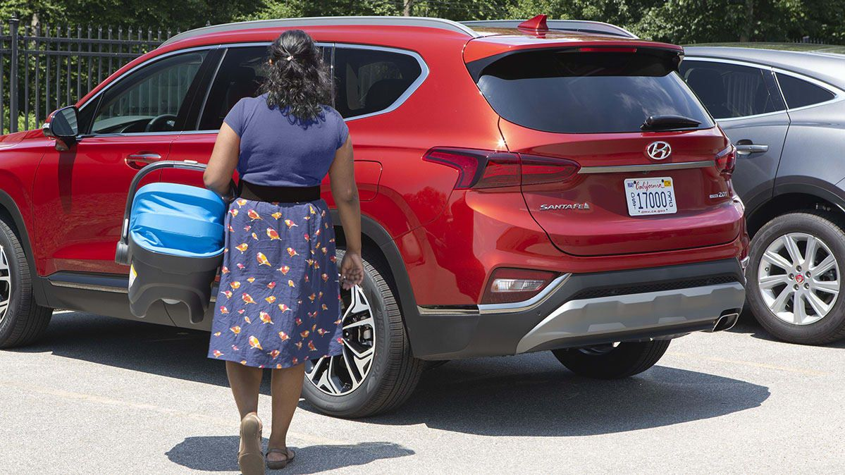 2019 Hyundai Santa Fe Rear Occupant Alert Aims To Protect Kids From Hot Cars Hyundai Santa Fe Hyundai Hot Cars