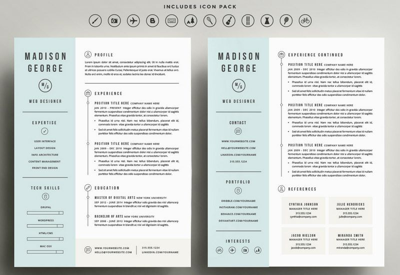 2 Page Resume Sample Awesome 2 Page  Sample Resume Template And Resume Format
