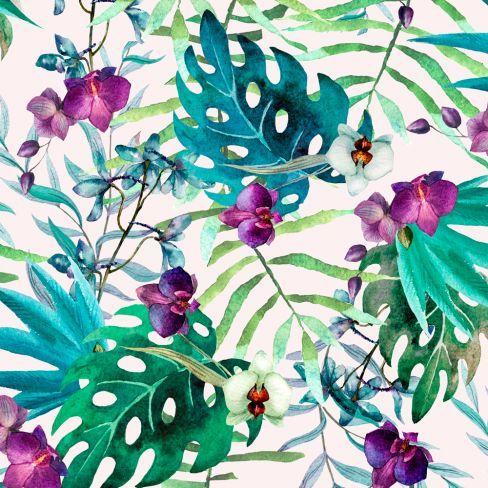 Tropical floral wallpaper tropics pinterest floral for Print wallpaper designs