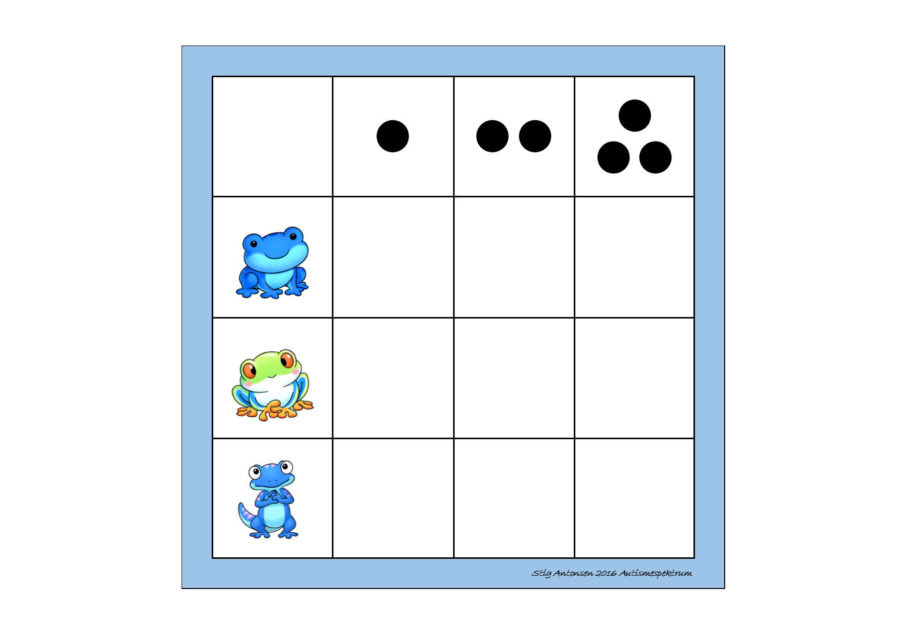 Board for the matrix counting game. Find the belonging tiles on ...