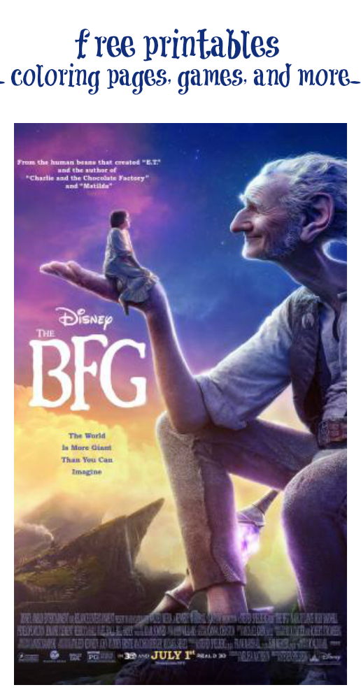 The Bfg Printables And Games Movie Comes Out July 1st Bfg Movie The Bfg Full Movie The Bfg 2016
