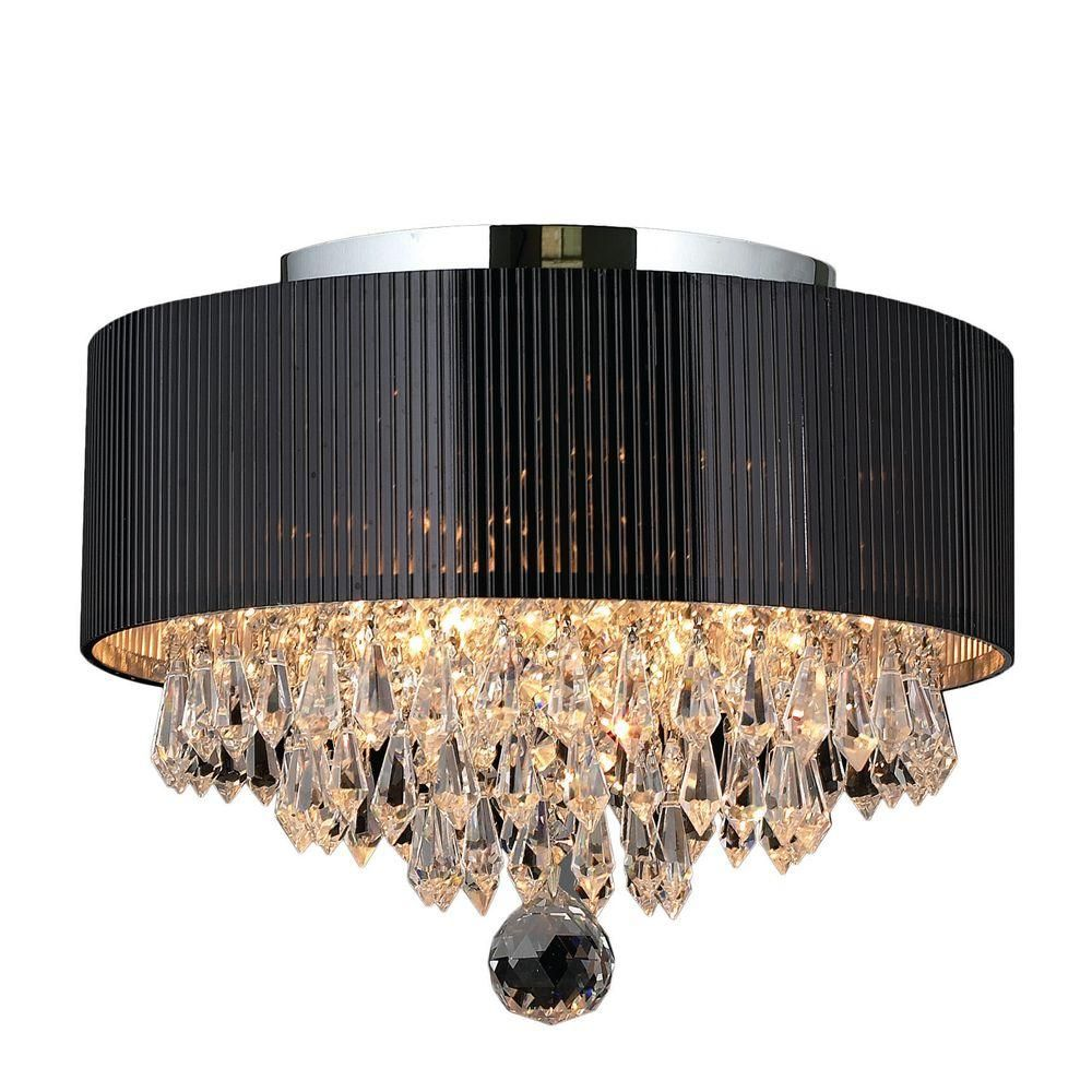 Image Result For Light Fitting Large Round Black And Crystal