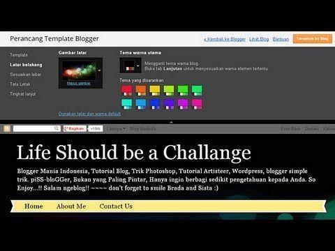 Video tutorial ini mempraktekkan cara membuat dan menggunakan perancang template blogger atau blogger template designer. (KLIK pad gmbr tuk melihat Tutorial)
