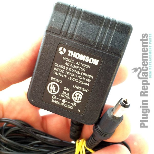 Thomson A21220n Oem Power Supply Adapter Charger 12vdc 12v Dc 200ma Adapter Power Supply Power