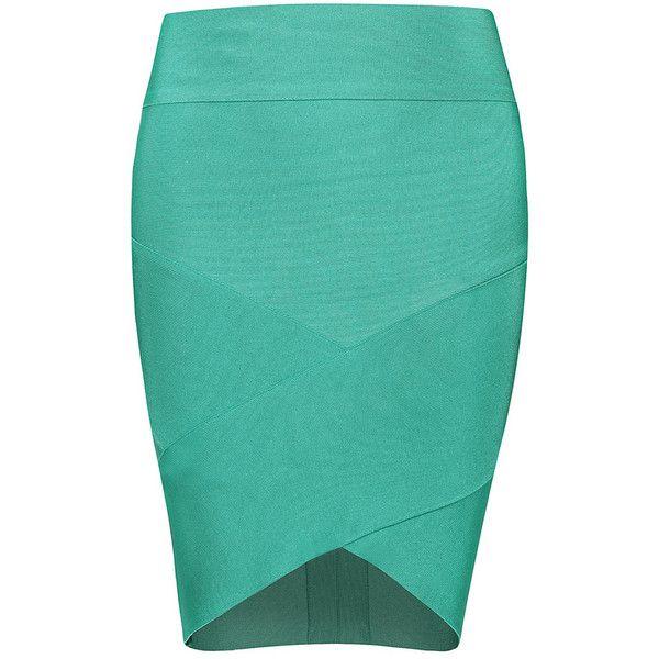 POSH GIRL Grace High Waist Bandage Mini Skirt ($88) liked ...
