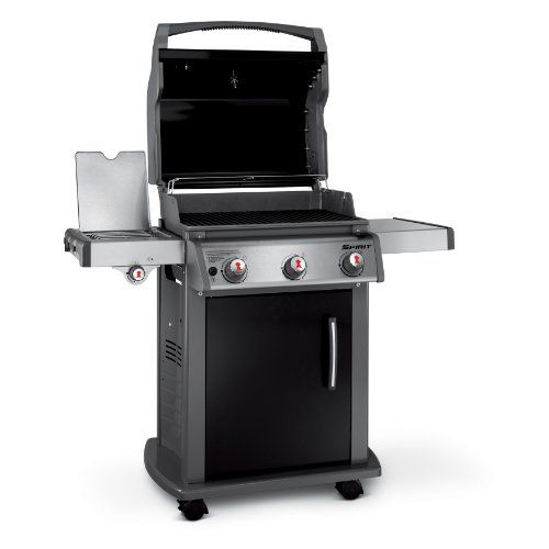 Weber 46710001 Spirit E320 Liquid Propane Gas Grill Black Redesigned In 2013 The New Spirit E 320 Lp Gas Grill Is Complete With All The Essen Weberli Grillen
