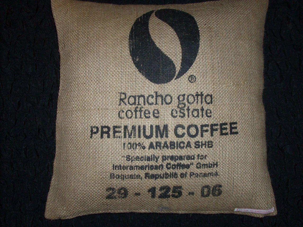 Kaffeesack-Kissenbezug Zu finden bei: http://de.dawanda.com/shop/gioiella