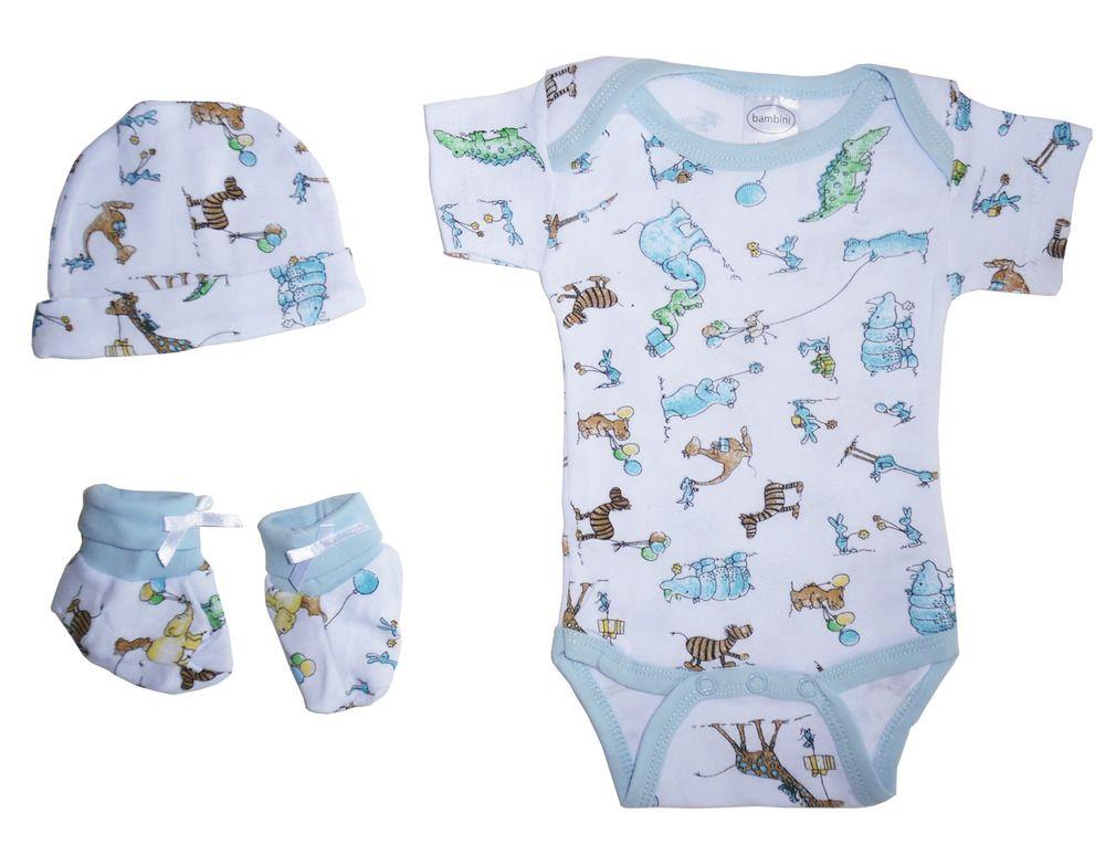 Bambini infant wear newborn baby boy 3 piece gift set