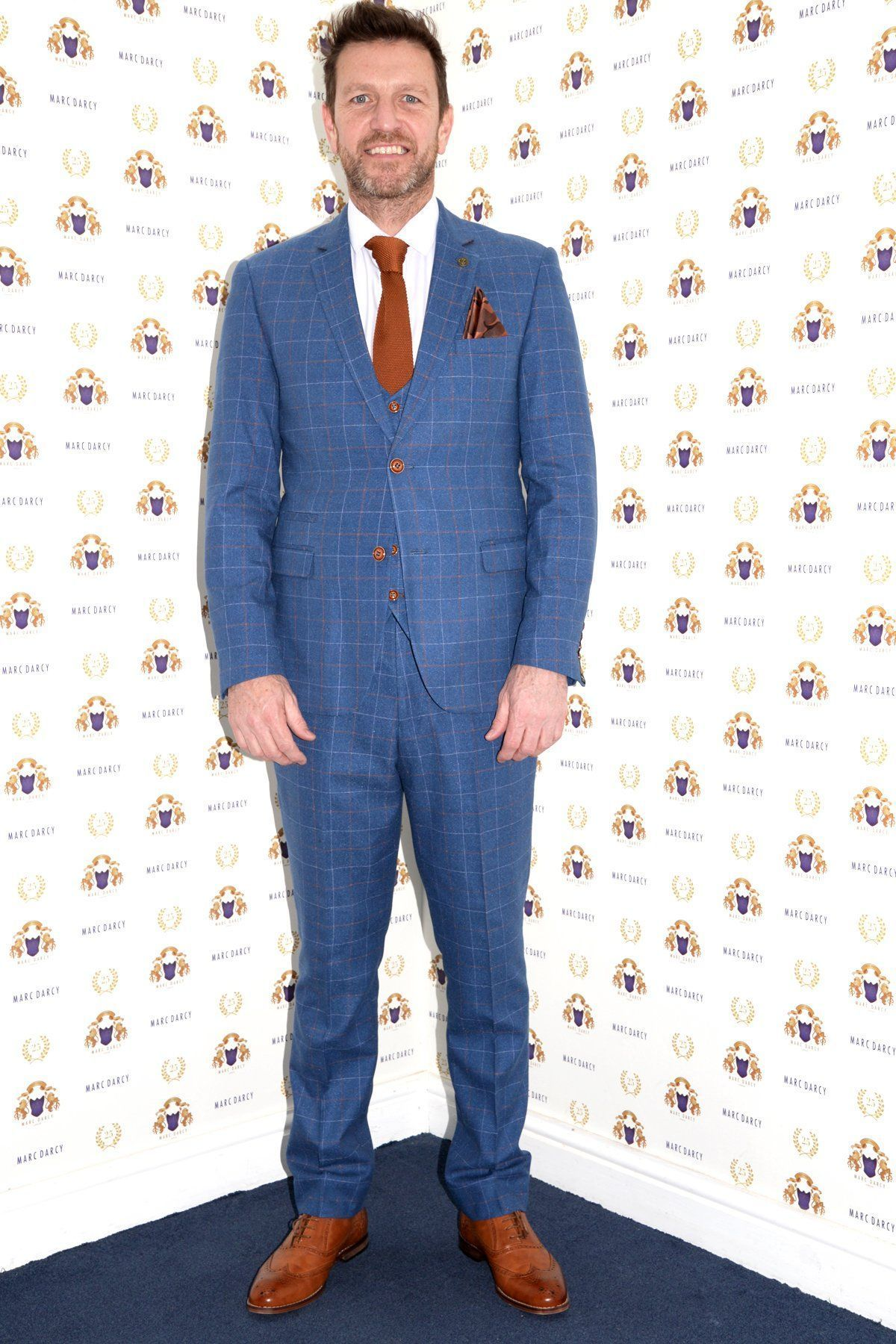 dce2ed6a5798 MATTHEW - Sky Blue Tweed Suit As Seen On Lee Sharpe - Marc Darcy ...
