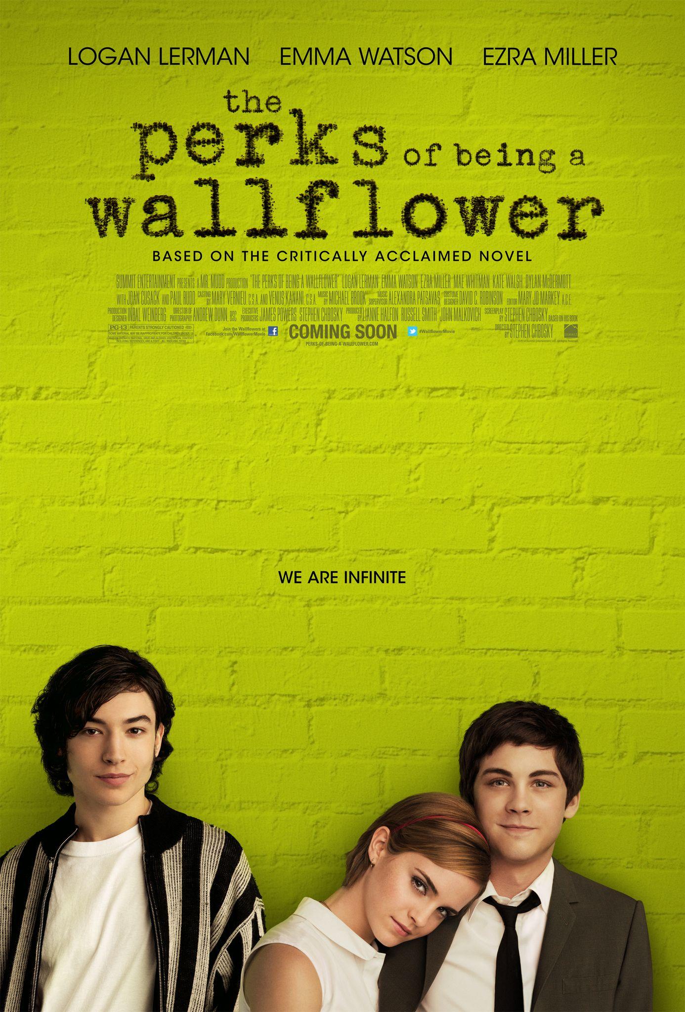 The perks of being a wallflower (regie: Stephen Chbosky)  Wat een prachtfilm!