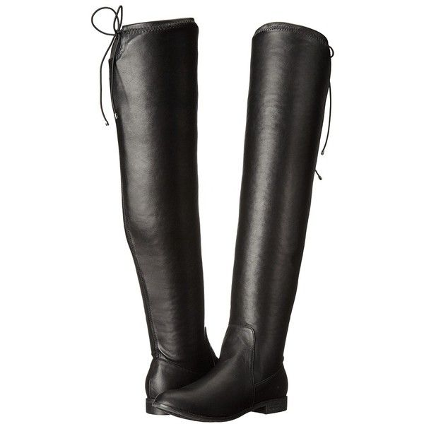 Chinese Laundry Rainey (Black Stretch) Women's Shoes (305 BRL) ❤ liked on Polyvore featuring shoes, boots, over-the-knee boots, chinese laundry over the knee boots, chinese laundry boots, thigh boots, stretch thigh high boots and black thigh-high boots
